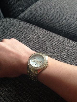 Armbanduhr Guess Gold Swarovski Bild