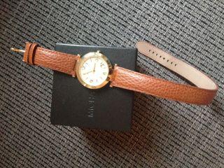 Armbanduhr Michael Kors Gold Leder Wie Bild
