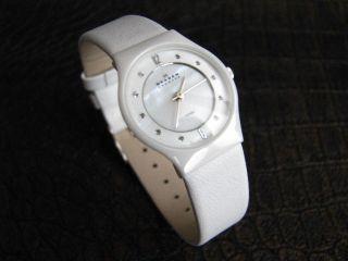 Skagen Damenuhr 233xsclw Keramik Weiß Bild