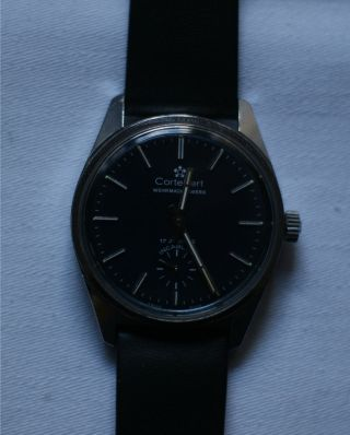 Cortebert Wehrmachtswerk Handaufzug Herren Armbanduhr Bild