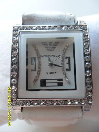 Emporio Armani Armbanduhr Weiß Bild