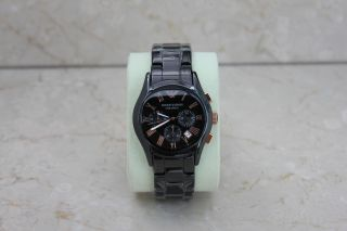 Emporio Armani Herren Uhr Chronograph Schwarz Ceramica Ar1410 Bild