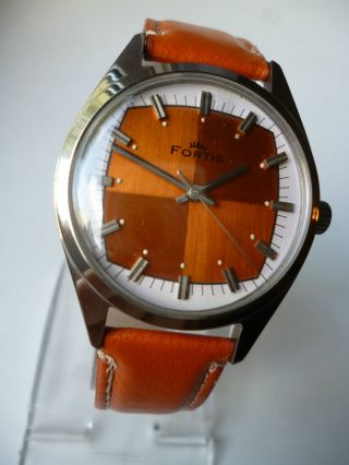 Rare Fortis Orange Eye Military Handaufzug,  Vintage, Bild