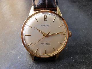 Trumpf Herren Uhr Automatik 25 Rubine Vintage Bild