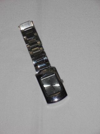 Da.  Armbanduhr Edelstahl,  Zifferblatt Hellblau Bild