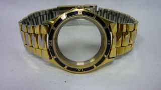 Gub Glashütte Uhr Gehäuse Mit Armband Für Eta 28 - 24 Bild