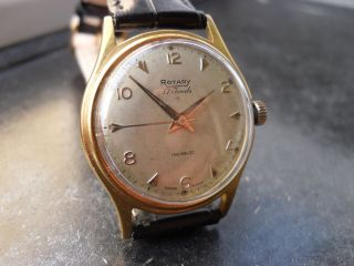 Rotary Herren Uhr 17 Jewels Handaufzug Vintage Bild