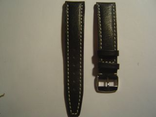 Armband Schwarz Mühle Glashütte Kurz Bild