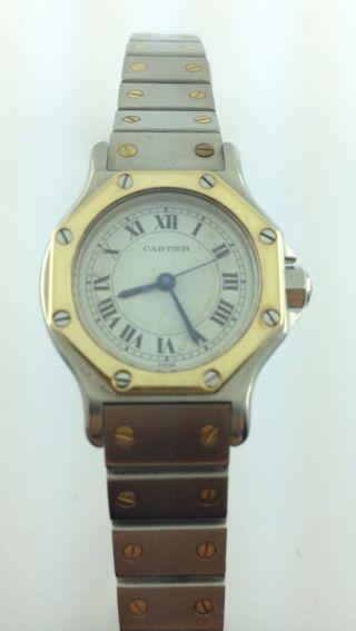 Cartier - Santos - Lady - Damen - Uhr - Kleines Modell - Automatik - Stahl/gold Bild