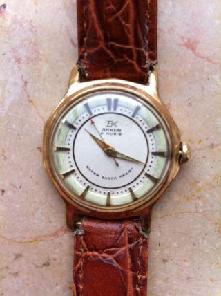 Anker Ek 21 Rubis Mit Hb 120 Uhrwerk Vintage Watch Bild