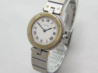 Cartier Santos Vendome Quarz Stahl /gold Damen Bild