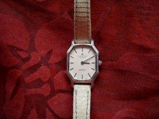 Alte Junghans Armbanduhr Damenuhr Modell Atelier Stainless Steel Batterie Bild