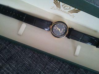 Nobel Cavadini Uhr,  Besonders Geschliffenes Glas,  18 Karat Gergoldet Bild