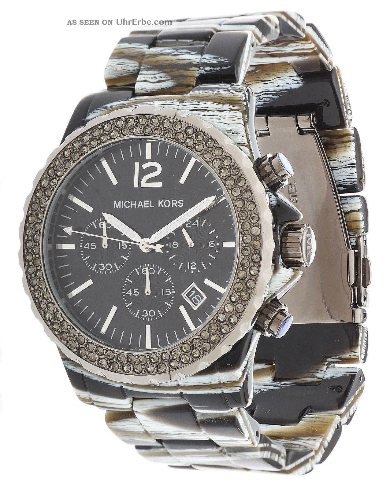 michael kors damen armbanduhr chronograph schwarz mk5599. Black Bedroom Furniture Sets. Home Design Ideas