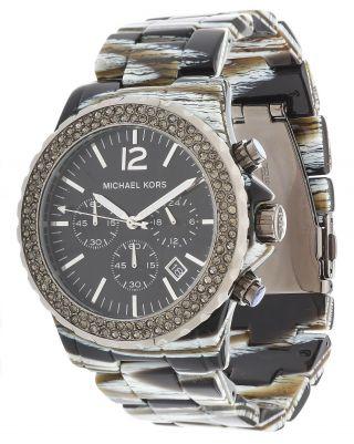 Michael Kors Damen Armbanduhr Chronograph Schwarz Mk5599 Bild