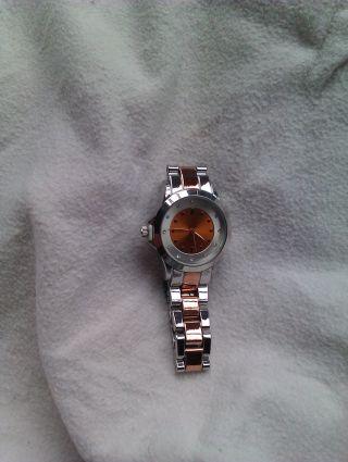 Damen - Armbanduhr Silber - Rose Mit Funkelnden Glitzersteinchen 2 Jahren Bild