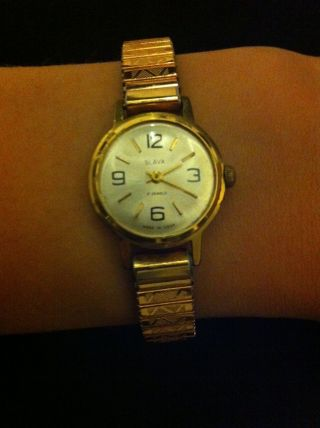 Slava 17 Jewels Damenuhr Damenarmbanduhr |mechanisch| Armbanduhr Udssr Bild