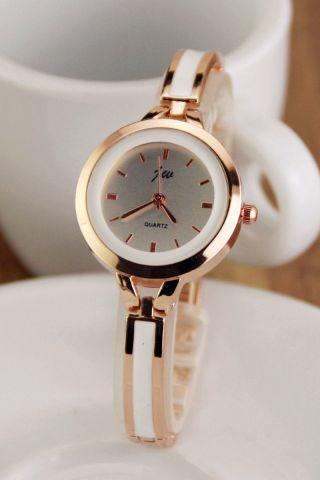 Frauen Damen Schlank Armband Quartz Ol Mädchen Armbanduhr Analog Kleid Uhren Bild