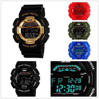 Armbanduhr Herren Wasserdicht Multifunktions Sportuhr Digital Lcd Wrist Watch Bild