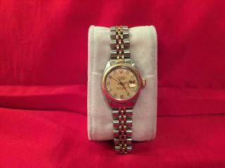 Rolex Oyster Perpetual Lady - Datejust Für Damen Stahl Gold Diamanten Bild