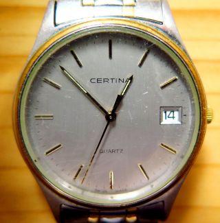 Certina Quartz Uhr 80er Herrenuhr Aus Sammlung Konvolut Hau Retro Vintage Bild