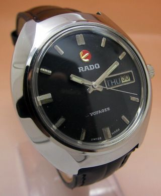 Rado Voyager Mechanische Atutomatik Uhr 17 Jewels Tages - Datumanzeige Lumi Zeiger Bild