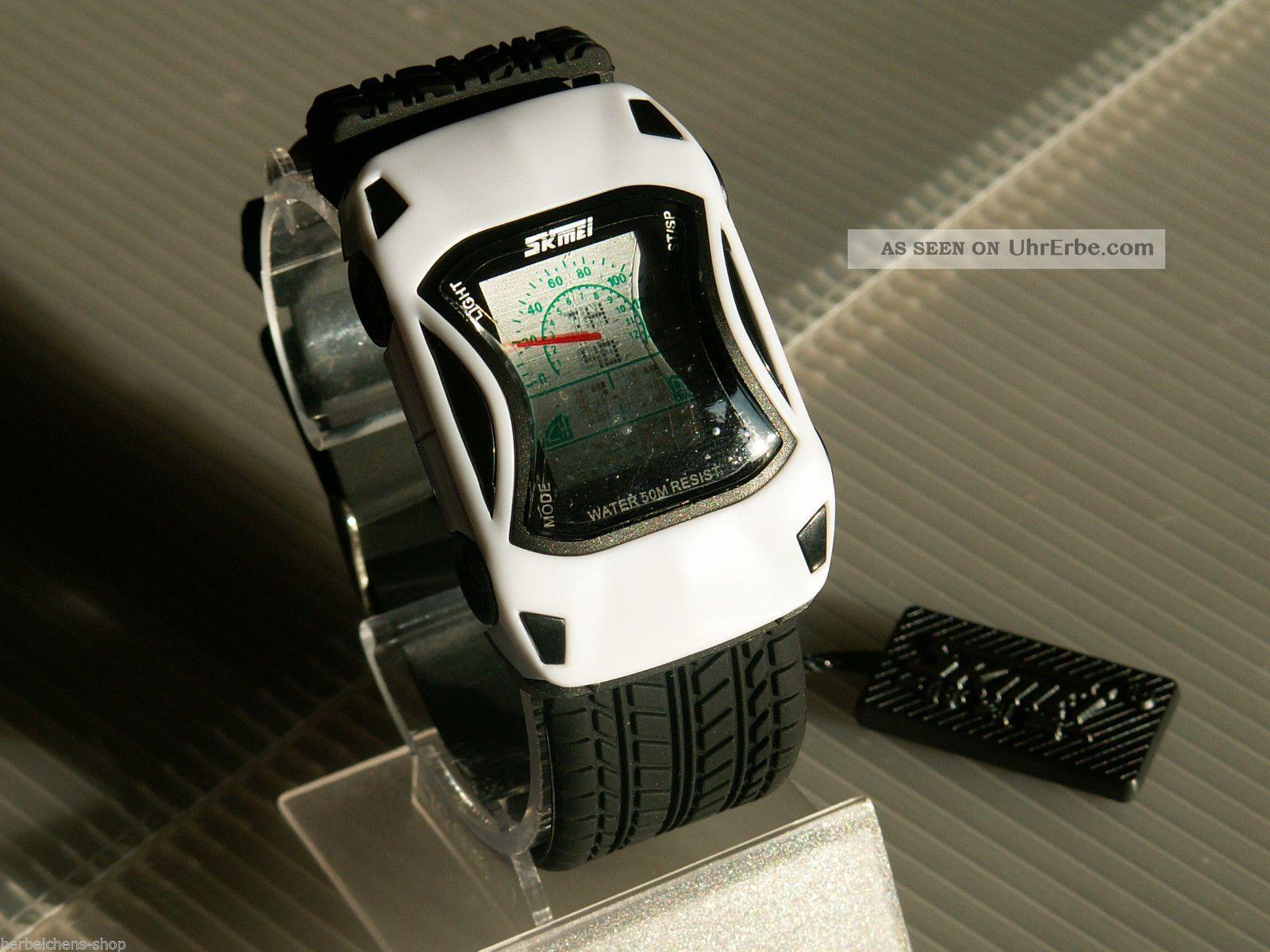 auto armband lcd digital alarm stoppuhr quarz sport uhr. Black Bedroom Furniture Sets. Home Design Ideas