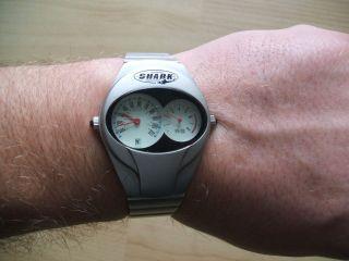 Uhr Sammlung Alte Shark Quartz Herren Armbanduhr Bild