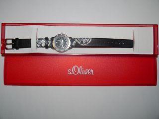 Neuwertige Armbanduhr Für Kinder S.  Oliver Wild Coyotes / Lederarmband Bild