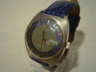 Rotary Automatic Day - Date Stahl Mit 21 Jewels Bild