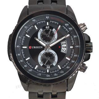 Komplikationen Herren Quarz Edelstahl Armbanduhr Schwere Militär Herrenuhr Uhren Bild