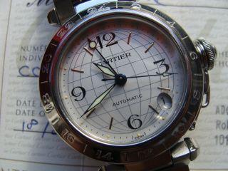 Cartier Pasha C Mit Zweiter Zeitzone Gmt ' Top Papiere Und Box Bild