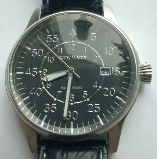 Army Watch Beobachter Uhr Armbanduhr Einsatzuhr Dienstuhr Edelstahl Bild