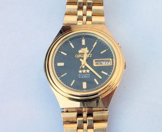 Orient Crystal 21 Jewels Automatik Herrenuhr Armbanduhr Uhr Sammleruhr Bild