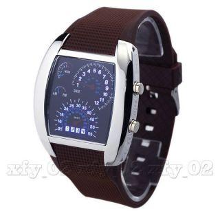 Clock Race Car Led Datum Coffee Band - Mann - Jungen - Sport - Armbanduhr Uhren Bild