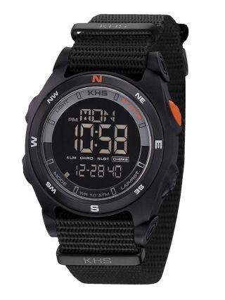 Khs Black Sentinel Dc Alarm Chronograph,  Digital Kompass,  Datumsanzeige,  Licht Bild