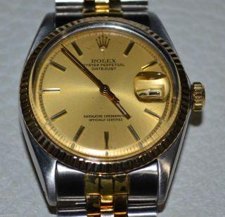 Rolex Datejust Automatik Herren - Uhr Stahl Gold Cal.  1570 Herrenuhr Bild