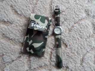 Kinderuhr Armbanduhr Scout Militär Design Bild