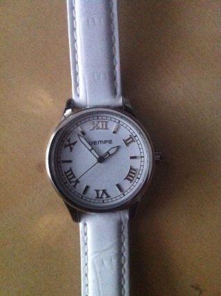 Wempe Armbanduhr,  Damen,  Weiß,  Echtes Leder,  ,  Ungetragen,  Quarz Uhr,  34mm Bild