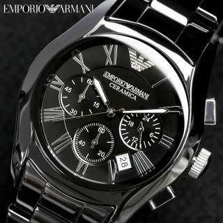 Herrenuhr Chronograph Emporio Armani Ar1400,  Schwarz Bild