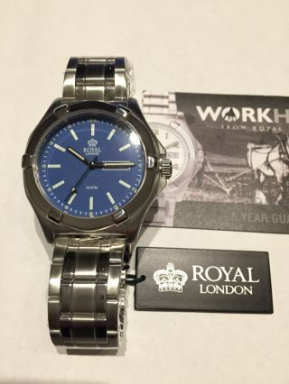Herrenuhr Royal London Workhorse Serie 100 Meter Wasserdicht / Metalband Bild