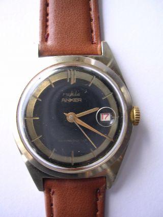 Armbanduhr Anker Mechanisch Vintage Hau Handaufzug Bild