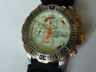 Diver Taucheruhr Rivado Yellow Edition Mit Tiefenmesser In Bi Color Bild