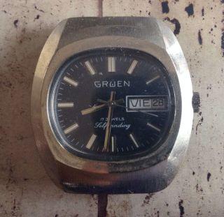 Vintage Gruen 17 Jewels Uhrgesicht Uhr Armband Uhr Look Bild