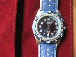Adora Kinderuhr Mit Leder Armband - Uhr Kinder Armbanduhr Blau Analog Bild