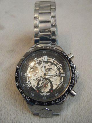 Uhr Armbanduhr Schwere Xl Automatikuhr Skelettdesign Bild