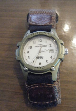 Uhr Armbanduhr Timex Expedition Indiglo 50 M Bild