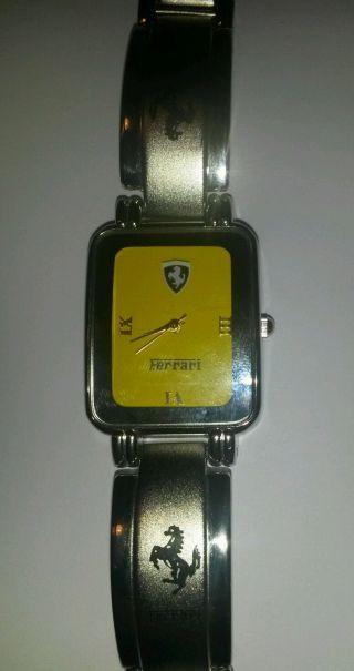 Ferrari Uhr Gelb Armbanduhr Metallarmband Analog Herren Damen Bild