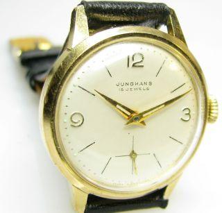 Alte Junghans 93 S Herrenarmbanduhr Aus Den 50er Jahren Bild