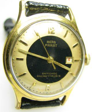 Alte Mechanischeberg Parat Herren - Armbanduhr Aus Den 60er Jahren Bild